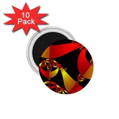 Fractal Ribbons 1.75  Magnets (10 pack)