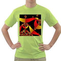Fractal Ribbons Green T Shirt