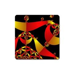 Fractal Ribbons Square Magnet