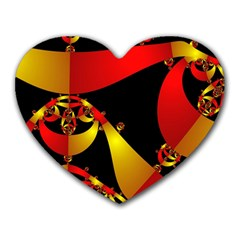 Fractal Ribbons Heart Mousepads
