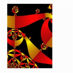 Fractal Ribbons Large Garden Flag (Two Sides)
