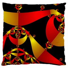 Fractal Ribbons Large Cushion Case (Two Sides)