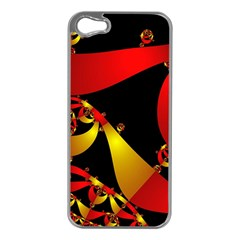 Fractal Ribbons Apple iPhone 5 Case (Silver)