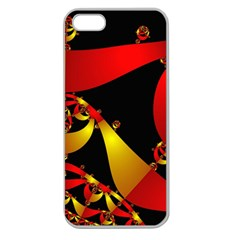 Fractal Ribbons Apple Seamless iPhone 5 Case (Clear)