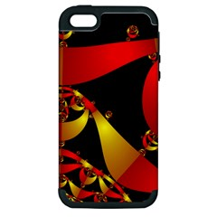 Fractal Ribbons Apple Iphone 5 Hardshell Case (pc+silicone)