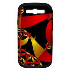 Fractal Ribbons Samsung Galaxy S Iii Hardshell Case (pc+silicone)