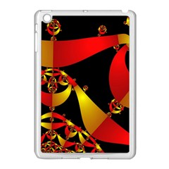 Fractal Ribbons Apple iPad Mini Case (White)