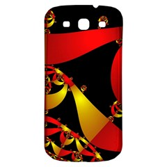 Fractal Ribbons Samsung Galaxy S3 S III Classic Hardshell Back Case