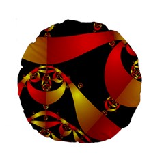 Fractal Ribbons Standard 15  Premium Round Cushions
