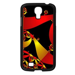 Fractal Ribbons Samsung Galaxy S4 I9500/ I9505 Case (Black)