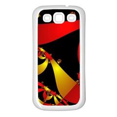 Fractal Ribbons Samsung Galaxy S3 Back Case (White)