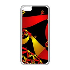 Fractal Ribbons Apple iPhone 5C Seamless Case (White)