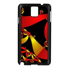 Fractal Ribbons Samsung Galaxy Note 3 N9005 Case (Black)