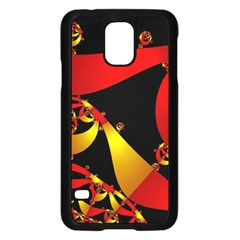 Fractal Ribbons Samsung Galaxy S5 Case (Black)
