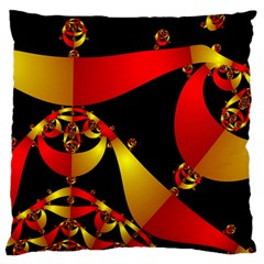 Fractal Ribbons Large Flano Cushion Case (Two Sides)