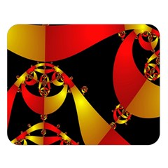 Fractal Ribbons Double Sided Flano Blanket (large)