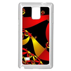 Fractal Ribbons Samsung Galaxy Note 4 Case (white)