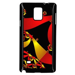 Fractal Ribbons Samsung Galaxy Note 4 Case (black)