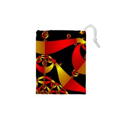 Fractal Ribbons Drawstring Pouches (xs)