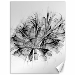 Fractal Black Flower Canvas 36  x 48