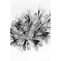 Fractal Black Flower 5.5  x 8.5  Notebooks