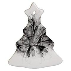 Fractal Black Flower Ornament (Christmas Tree)