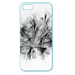 Fractal Black Flower Apple Seamless iPhone 5 Case (Color)