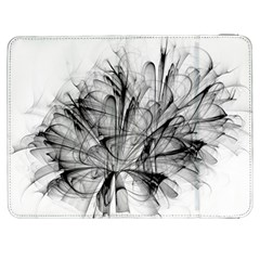 Fractal Black Flower Samsung Galaxy Tab 7  P1000 Flip Case