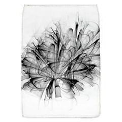 Fractal Black Flower Flap Covers (L)