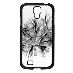 Fractal Black Flower Samsung Galaxy S4 I9500/ I9505 Case (black)