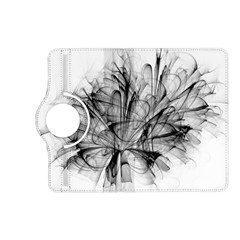 Fractal Black Flower Kindle Fire HD (2013) Flip 360 Case