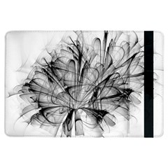 Fractal Black Flower iPad Air Flip