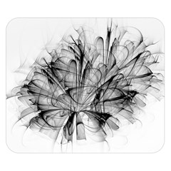 Fractal Black Flower Double Sided Flano Blanket (small)