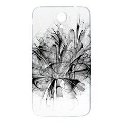 Fractal Black Flower Samsung Galaxy Mega I9200 Hardshell Back Case