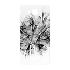 Fractal Black Flower Samsung Galaxy Alpha Hardshell Back Case