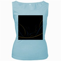 Fractal Lines Women s Baby Blue Tank Top