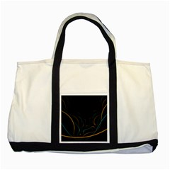 Fractal Lines Two Tone Tote Bag