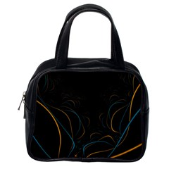 Fractal Lines Classic Handbags (one Side)