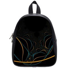 Fractal Lines School Bags (Small)
