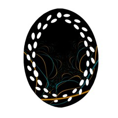Fractal Lines Ornament (oval Filigree)