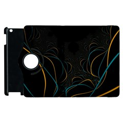 Fractal Lines Apple iPad 2 Flip 360 Case