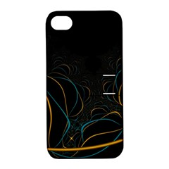 Fractal Lines Apple iPhone 4/4S Hardshell Case with Stand