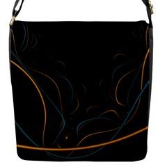 Fractal Lines Flap Messenger Bag (S)