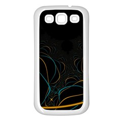 Fractal Lines Samsung Galaxy S3 Back Case (White)