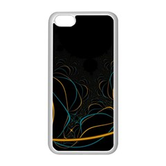 Fractal Lines Apple Iphone 5c Seamless Case (white)