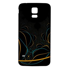 Fractal Lines Samsung Galaxy S5 Back Case (White)