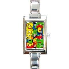 Mexico Rectangle Italian Charm Watch