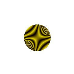 Yellow Fractal 1  Mini Buttons