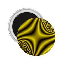 Yellow Fractal 2.25  Magnets