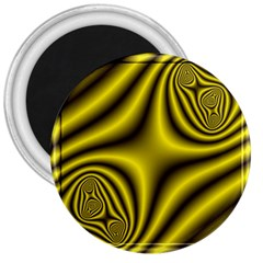 Yellow Fractal 3  Magnets